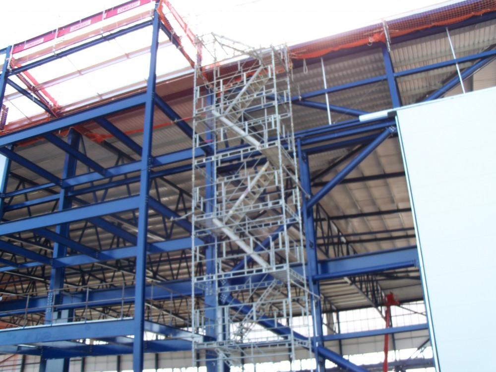 Safety net services stair towers from safety net services for Stair tower