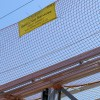 Net Barrier System on site at Liverpool Speke